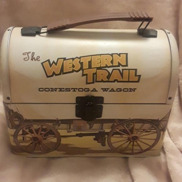 Bags Retro Metal Lunchbox Covered Wagon Poshmark